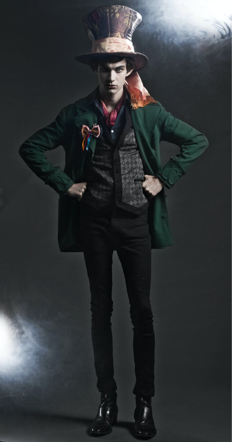 Mad Hatter lined green jacket - $79.50
