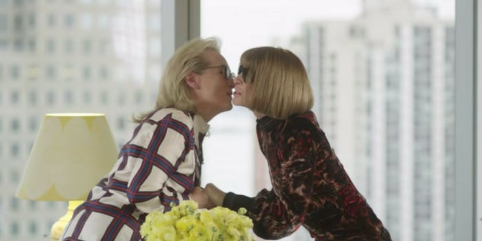 Meryl Streep and Anna Wintour meet for Vogue