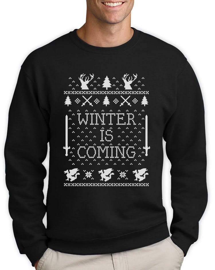 Winter is Coming Christmas ugly sweater, $19.99.