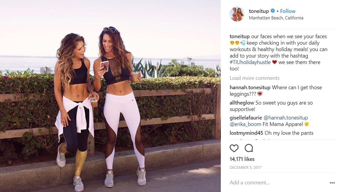 fitness models on instagram : karena dawn katrina scott