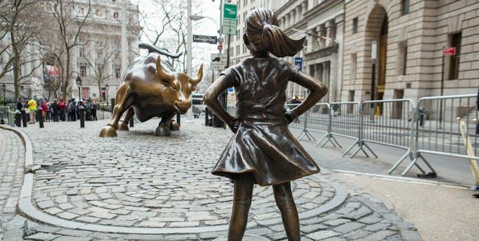 Fearless Girl Charging Bull Wall Street