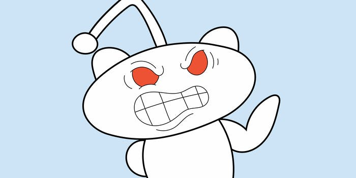 angry reddit snoo