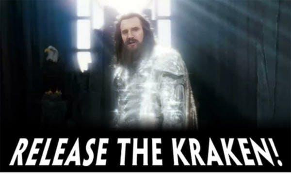release the kraken meme: liam neeson says release the kraken