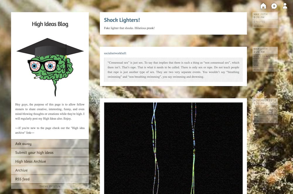 weed tumblr : High Ideas Blog