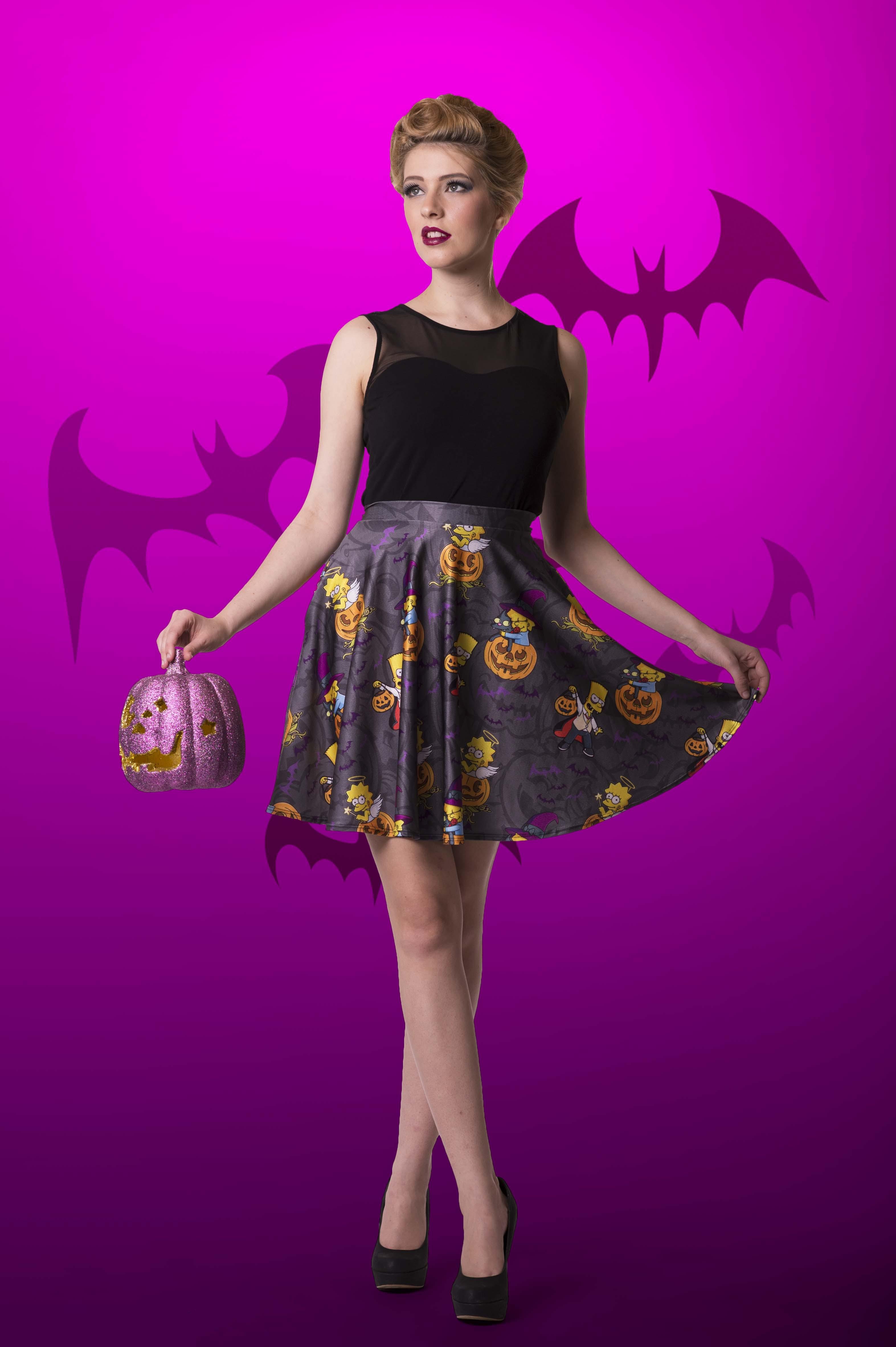 Nightmare On Evergreen Terrace Pocket Skater Skirt