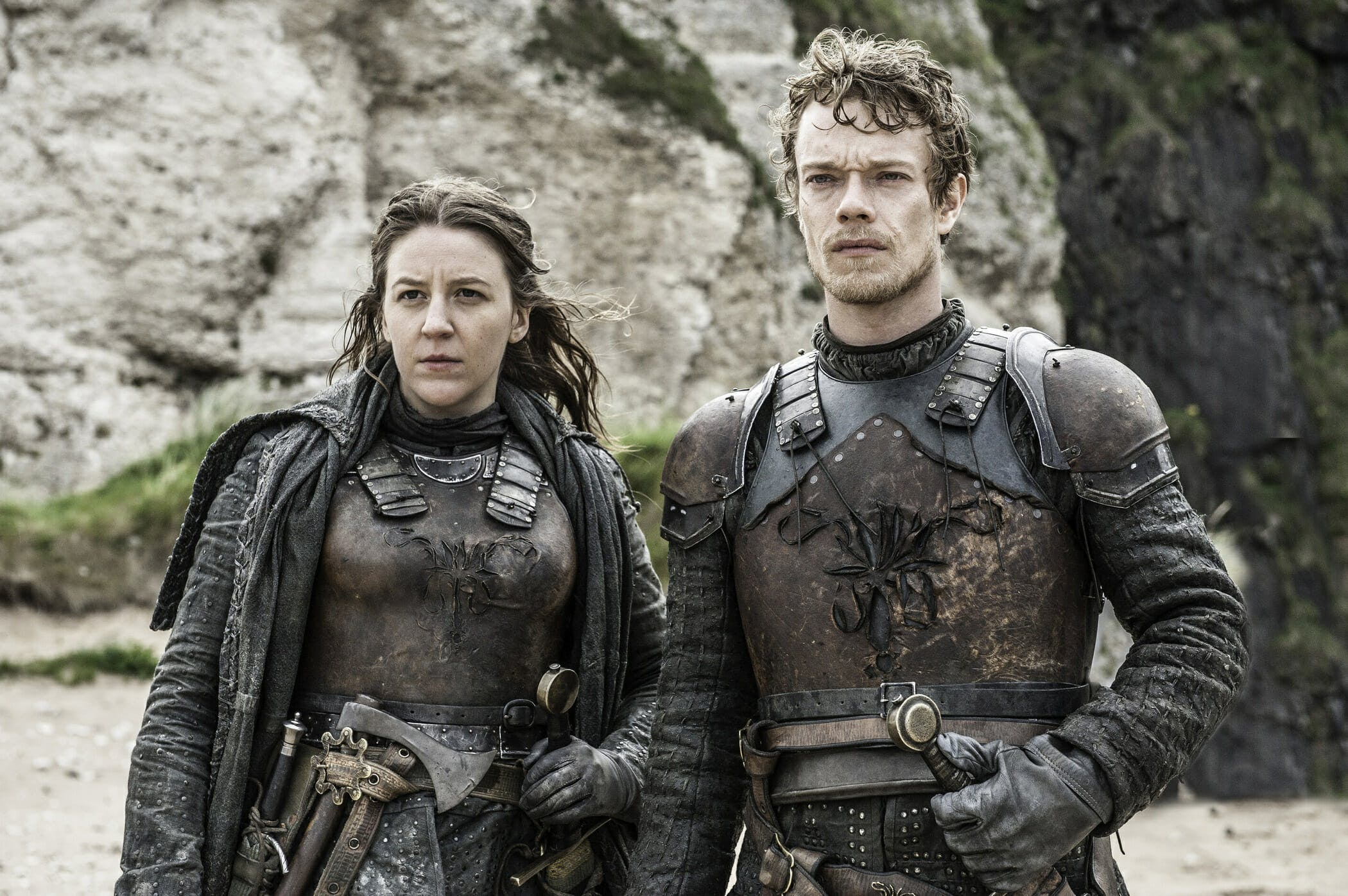 azor ahai Yara and Theon Greyjoy in 'Game of Thrones.'