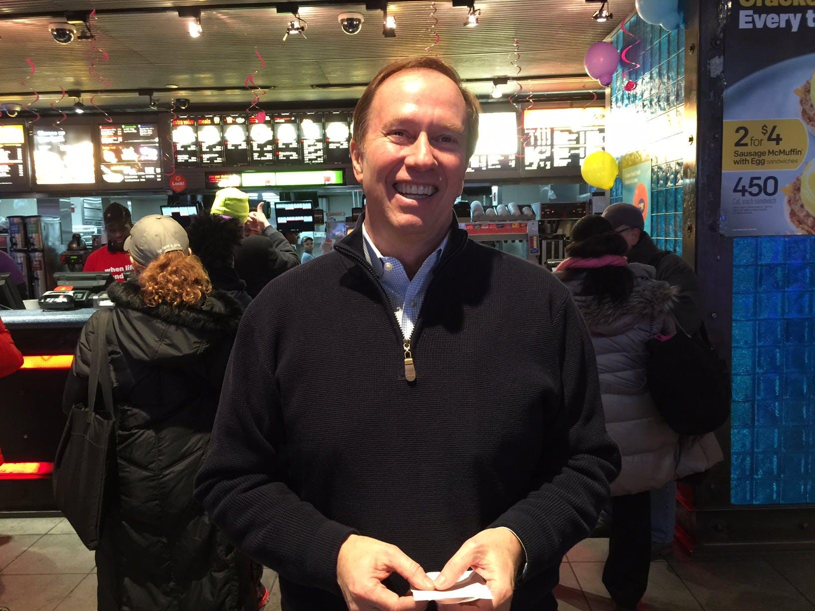 Jim Lewis, proud McDonald's franchisee