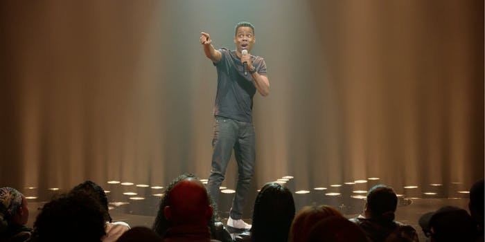 black standup specials : chris rock tamborine
