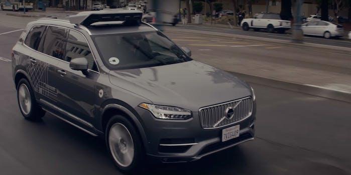 uber volvo self-driving autonomous car