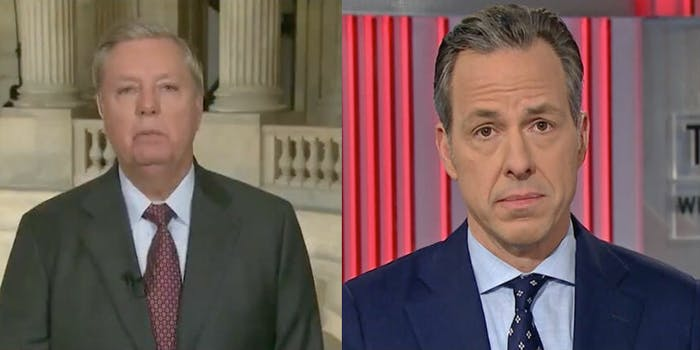Jake Tapper pulled the receipts on Lindsey Graham.
