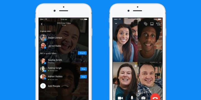 Messenger features : Group video chat on Messenger