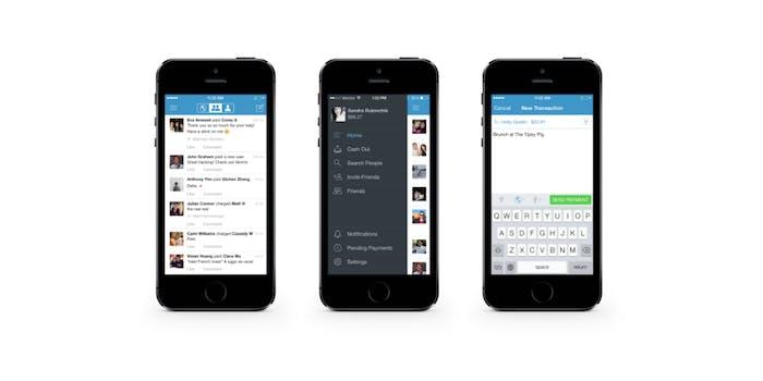 Venmo screenshots on iPhone