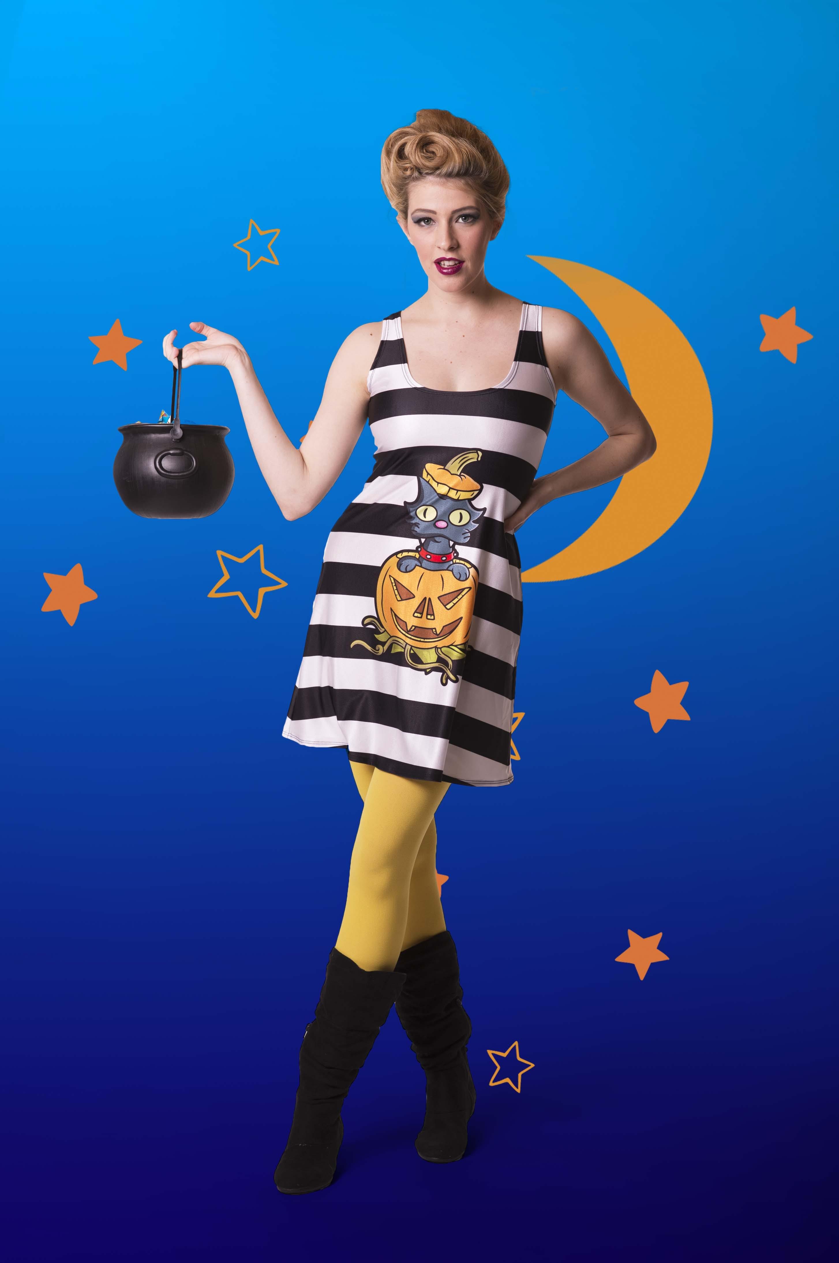 Spooky Snowball A-Line Dress