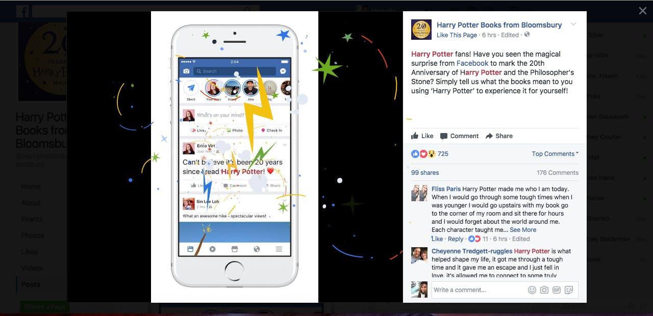 hp facebook easter egg