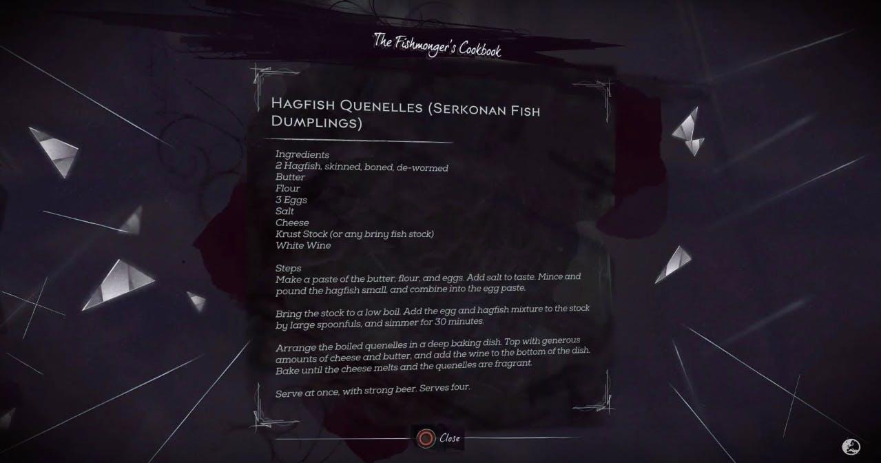 Recipe found in Dishonored 2