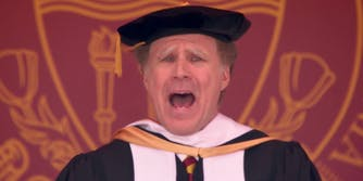 Will Ferrell singing at the USC commencement address in 2017.