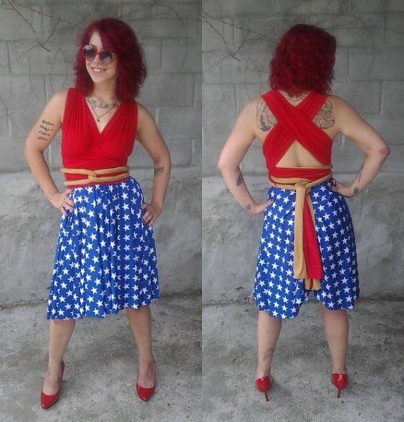 Wonder Woman-inspired dress by Little Petal