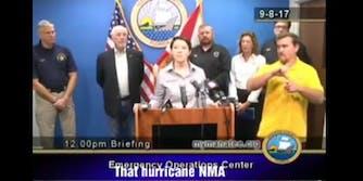 Hurricane Irma sign language