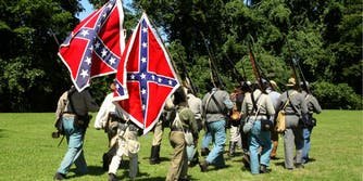 Civil War reenactors for the Confederacy