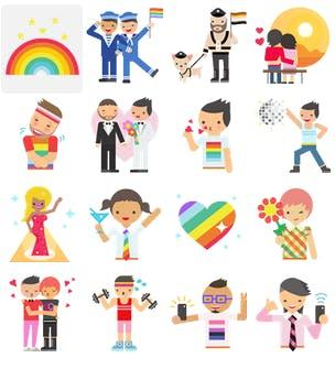 Fb pride stickers