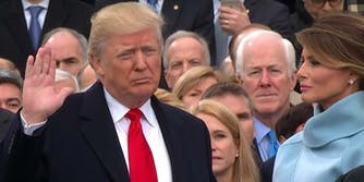 donald trump presidential inauguration oath of office