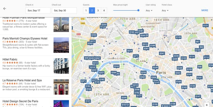 Google Tests Vacation Rental Search