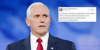Mike Pence healthcare reform tweet
