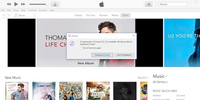 apple itunes 12.7 update app store removal