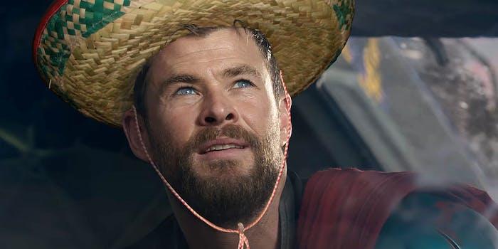 Thor wearing a sombrero