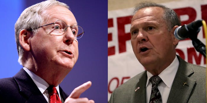Mitch McConnell said Roy Moore should 'step aside' from the Alabama senate race following accusations that he sexually assaulted a 14-year-old and dated other teenagers.