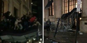 Eagles fans Ritz-Carlton collapse