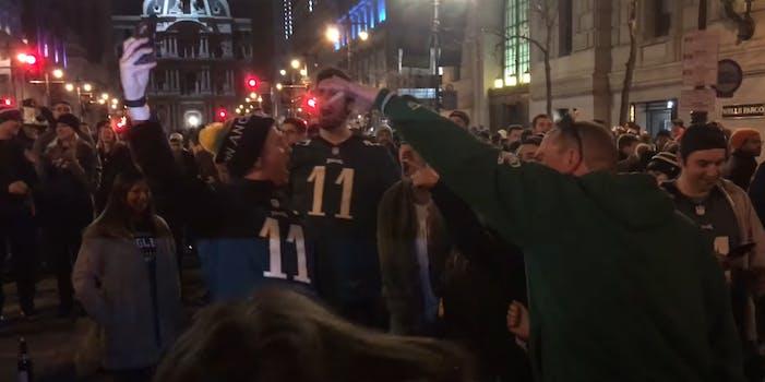 eagles fans celebrate