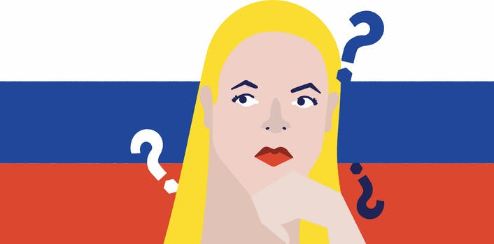 Illustration of Louise Mensch, the leader in Trump Russia conspiracy theories