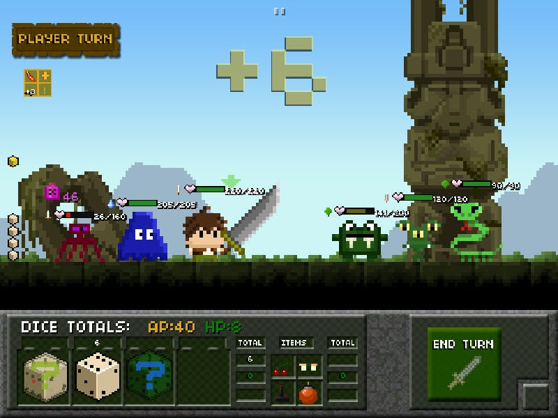 Tiny Dice Dungeon mobile game by Springloaded