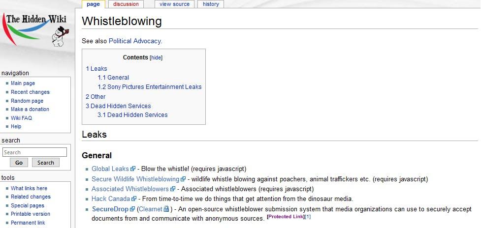 dark net: the hidden wiki