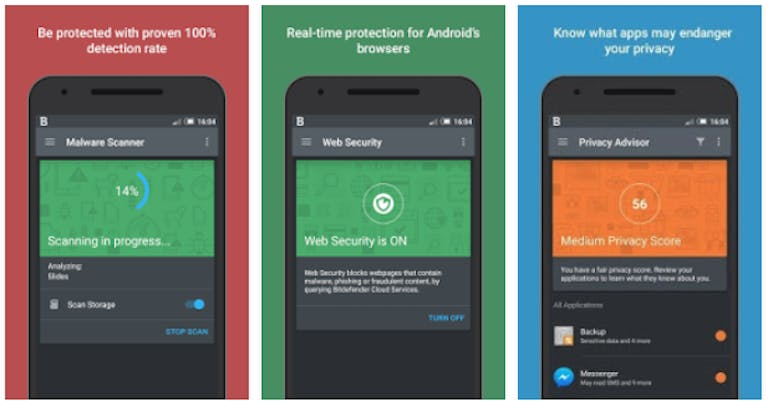 antivirus for android phones free : Bitdefender Android app