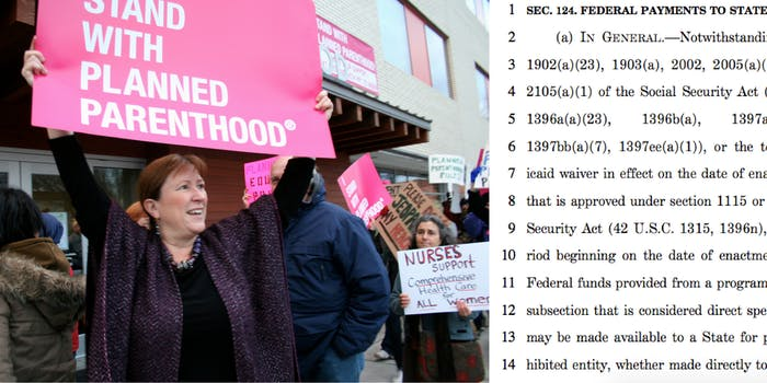 Better Care Reconciliation Act's anti-Planned Parenthood mandate