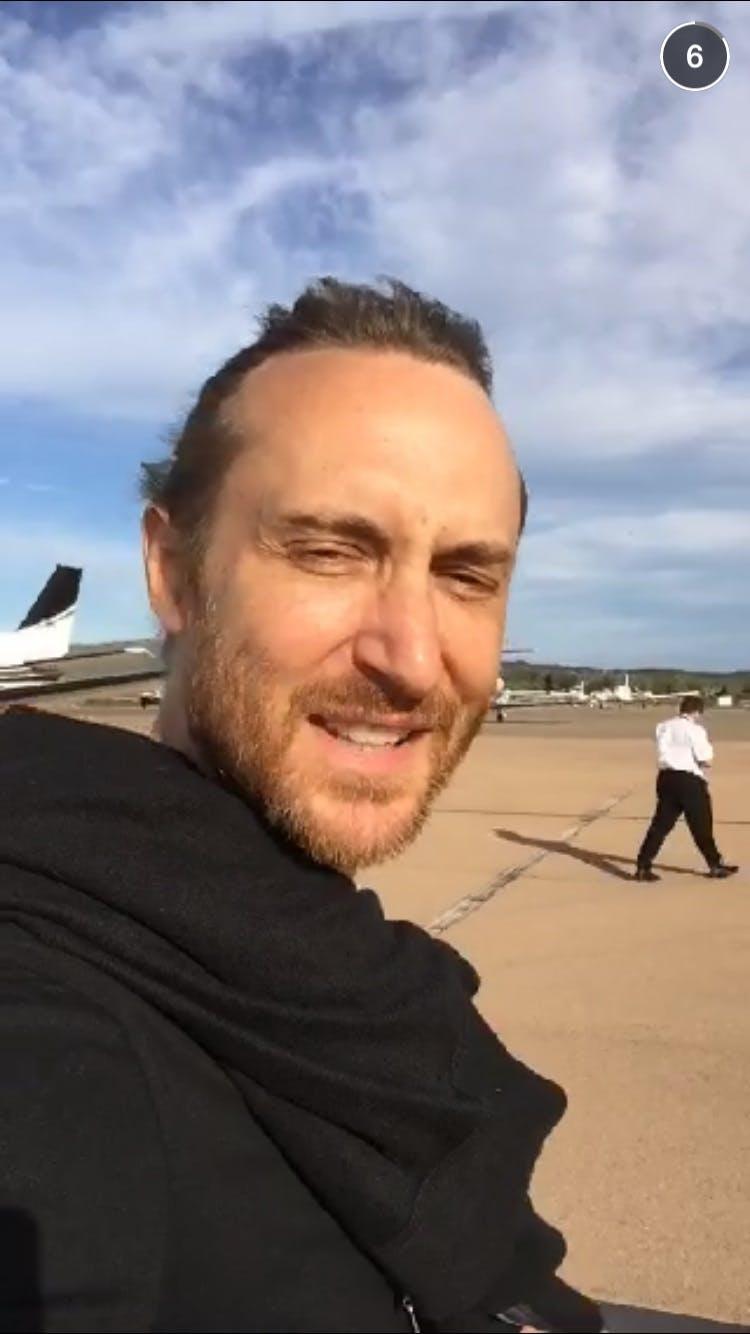 celebrity snapchats: David Guetta