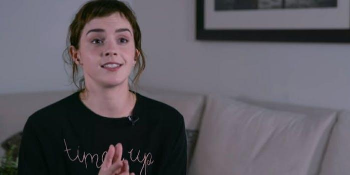 Emma Watson Time's Up tattoo typo