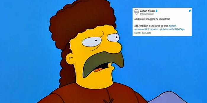 Merriam-Webster Adds 'Embiggen' from 'The Simpsons' to Dictionary