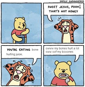 bone hurting juice pooh comic
