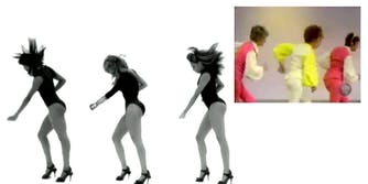 An image of Beyonce's Single Ladies choreography and Bob Fosse's Mexican Breakfast choreography