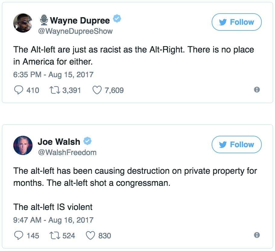 what is alt left
