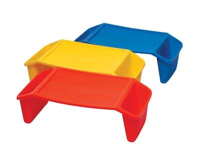 DIY Lego Table: plastic lap trays tay tables