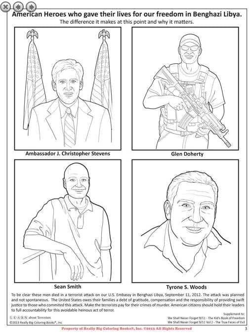 Benghazi coloring book page