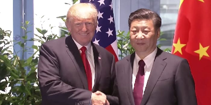 donald trump xi jinping north korea trade