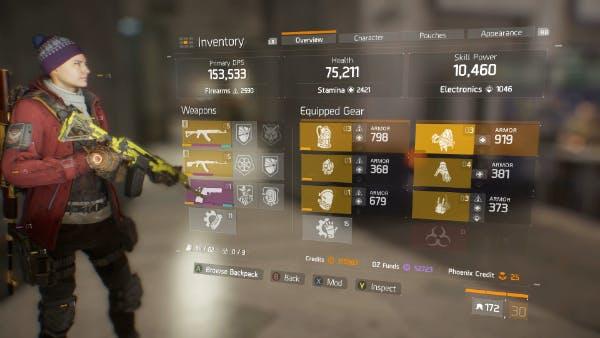 Gear score 172.