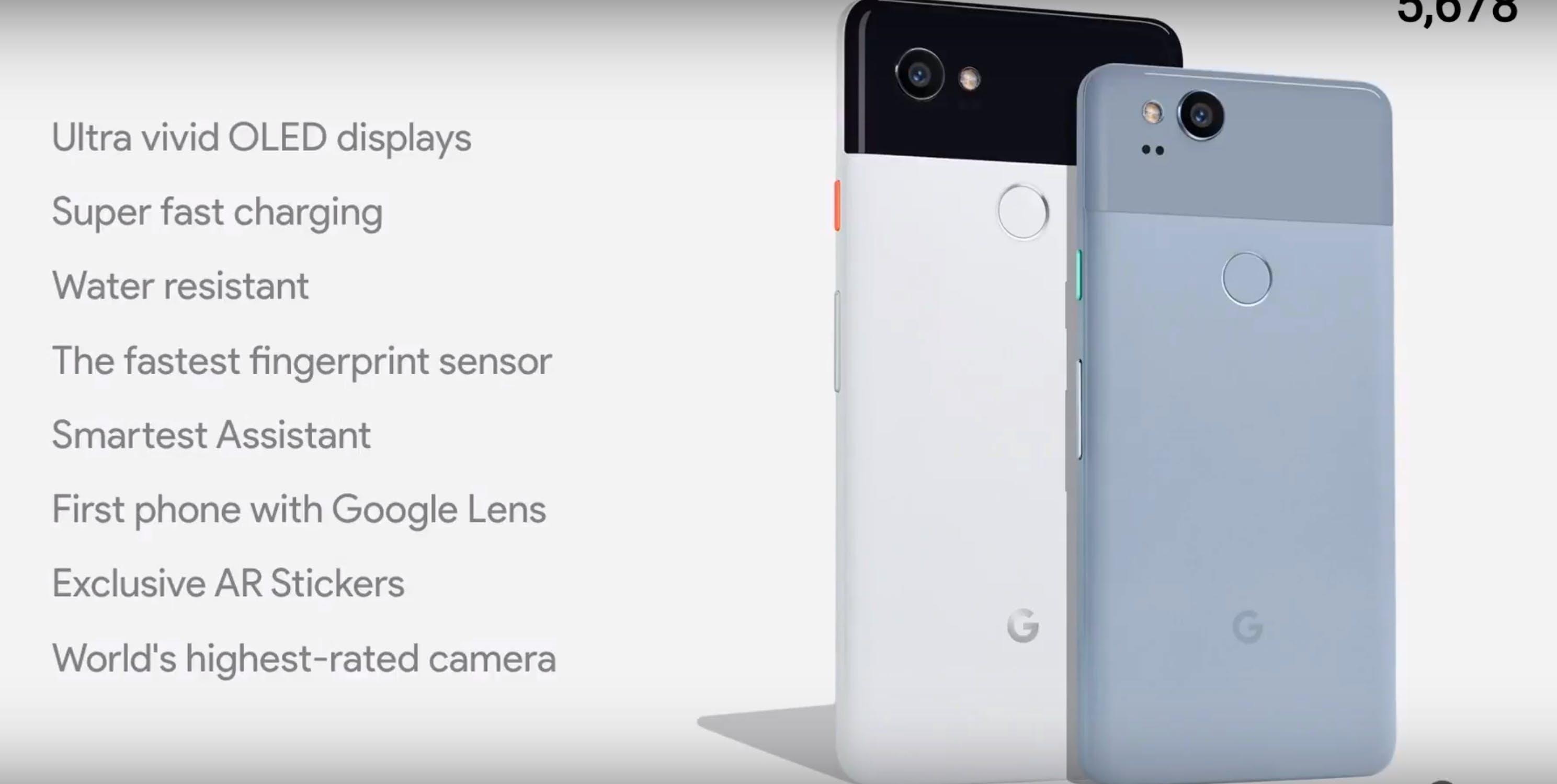 google pixel 2 and pixel 2 xl specs