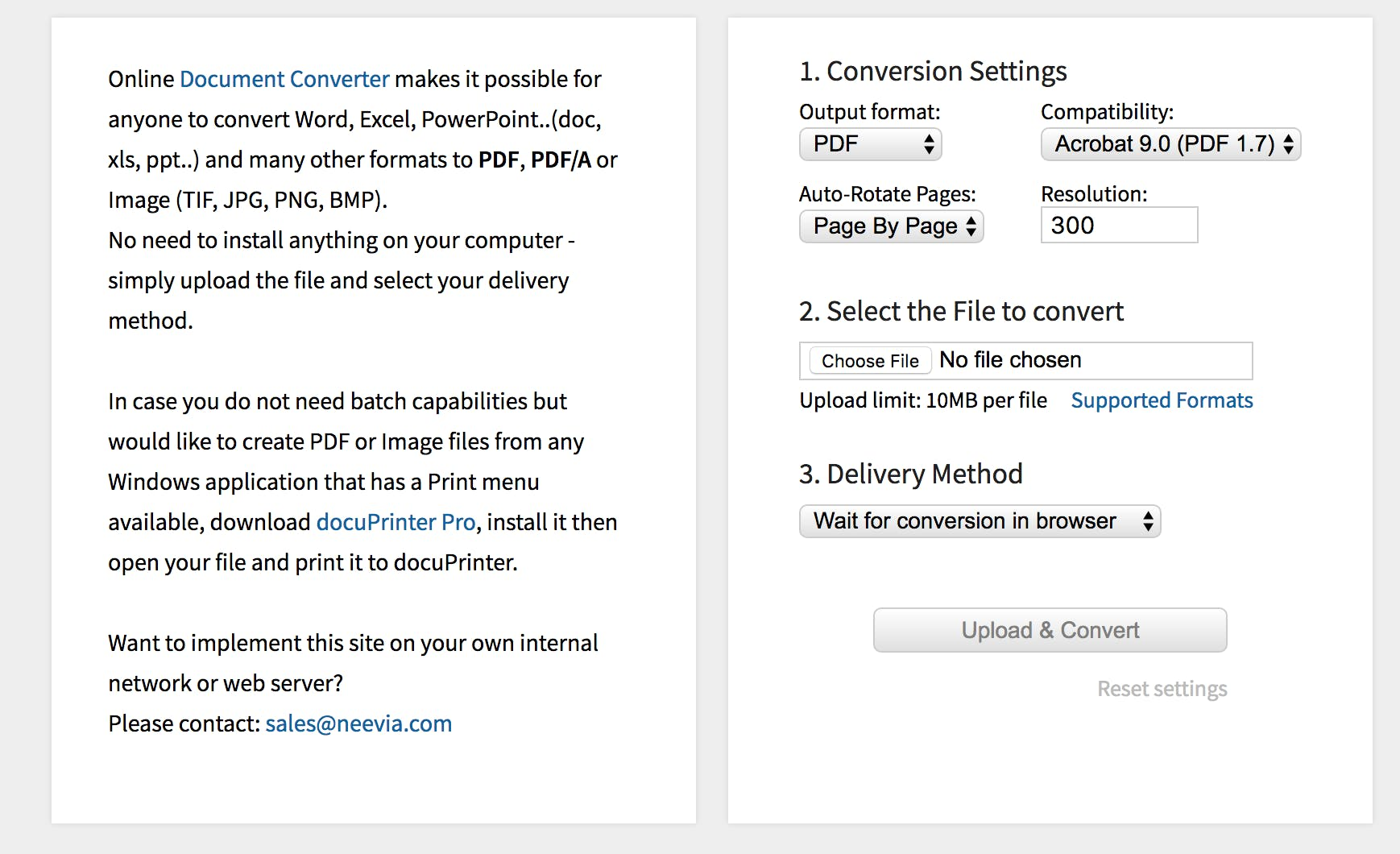 How to convert document to PDF