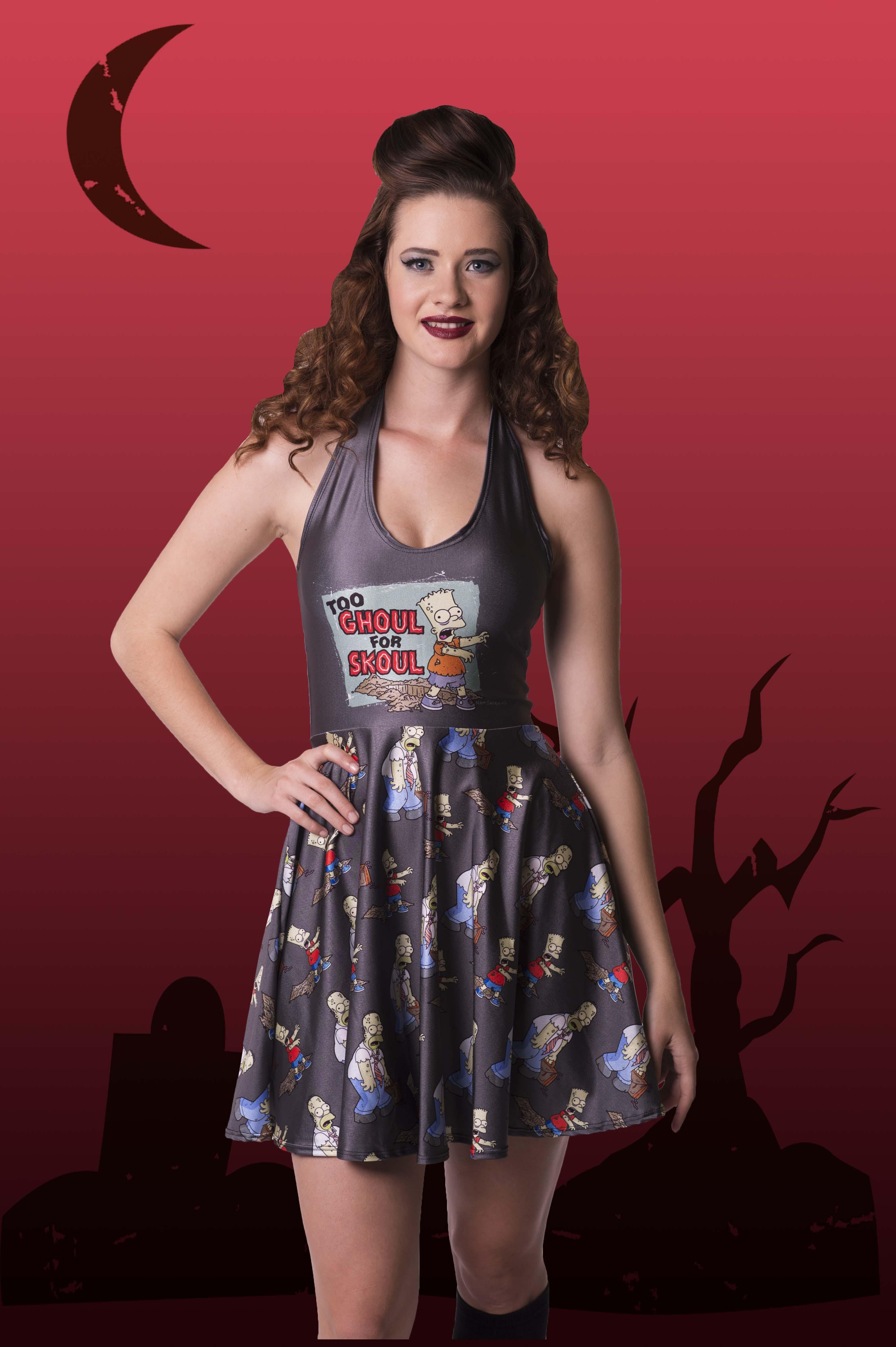 Too Ghoul For Skoul Halterneck Dress
